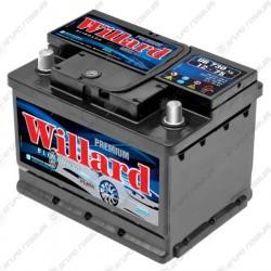 Batería auto Willard 12x75 cajón chico